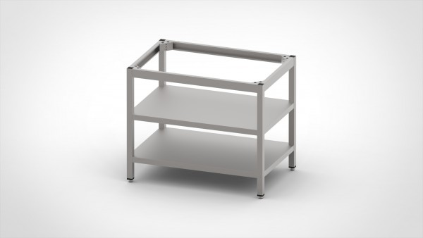 Tisch ohne Platte mit 2 Böden, mit einer Tiefe von 660mm