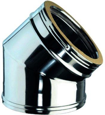 Bogen 45° für doppelwandiges Rohr Ø 150mm