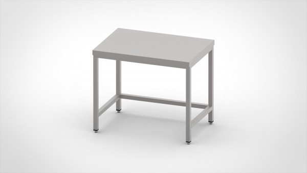 Arbeitstisch ohne Boden, mit einer Tiefe von 800mm