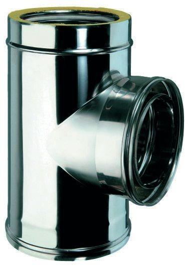 T-Stück 90° für doppelwandiges Rohr Ø 130mm