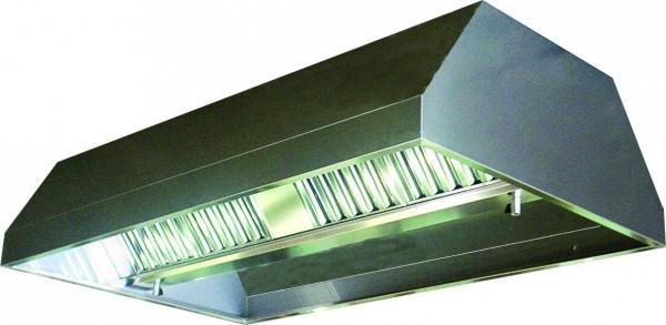 VDI-Deckenhaube, Trapezform mit einer Tiefe von 2000 mm, mit Filter Typ A