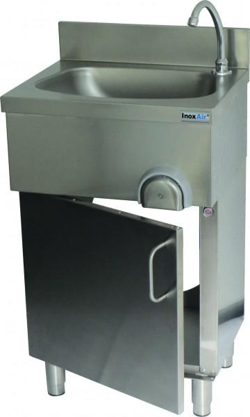 Handwaschbecken in Schrankausführung, mit Knie-oder Handbetätigung