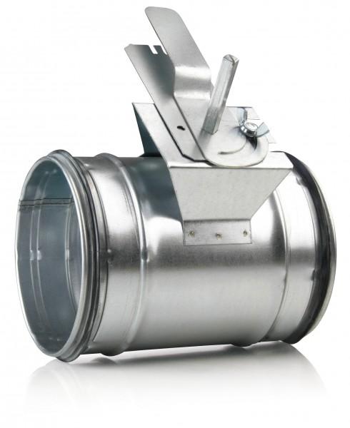 Absperrklappe auf 250mm Stahlblechrohr