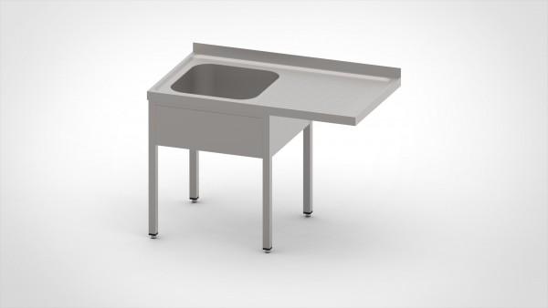 Spülcenter ohne Grundboden mit einer Tiefe von 700mm, mit einem Becken und einer Abtropffläche