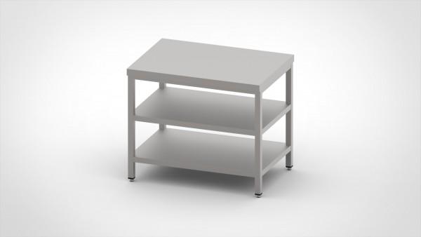 Arbeitstisch mit 2 Böden, mit einer Tiefe von 600mm
