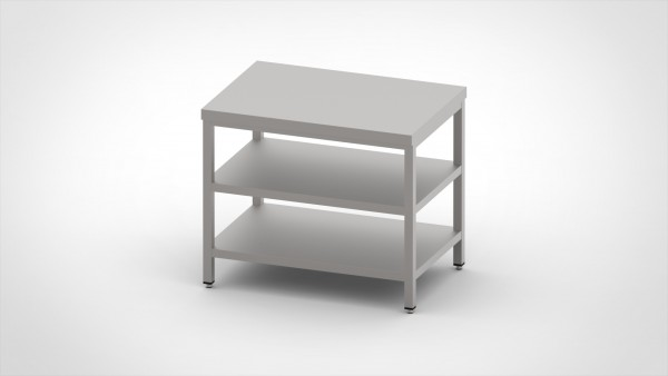 Arbeitstisch mit 2 Böden, mit einer Tiefe von 700mm