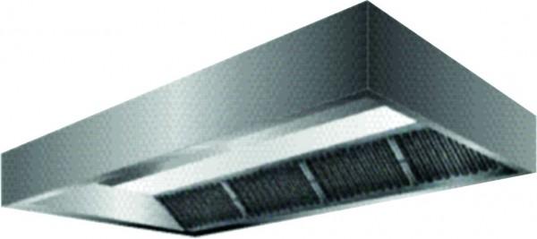 VDI-Deckenhaube, Kastenform mit einer Tiefe von 2400 mm, Filterreihe vorne