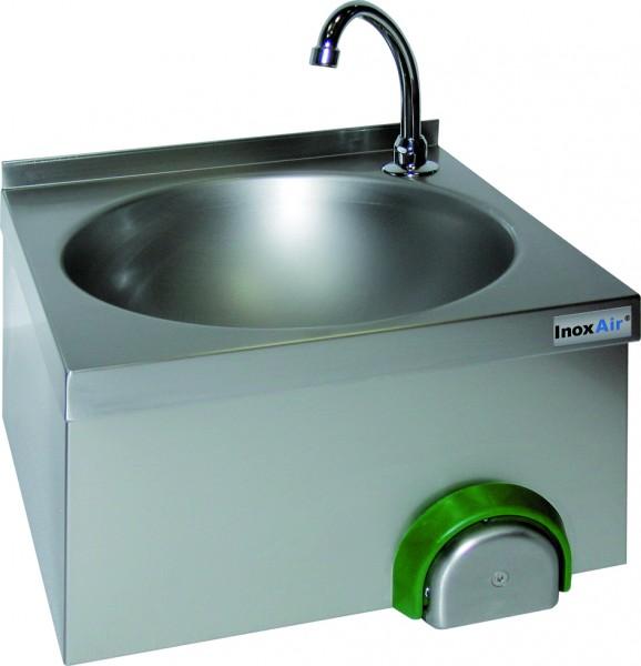 Handwaschbecken mit einem runden Becken, mit Knie-oder Handbetätigung