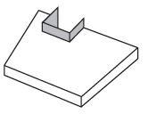 Zusätzlich zum Möbel: Eckiger Ausschnitt in einer Tischplatte mit Aufkantung