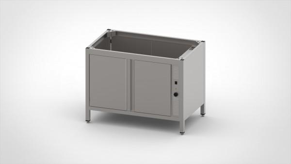 Durchreichewärmeschrank ohne Platte mit Schiebetüren, mit einer Tiefe von 660mm