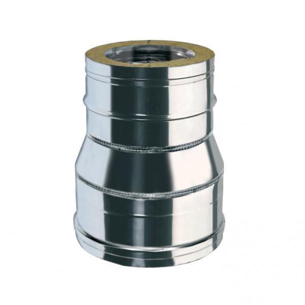 Reduzierung von Ø 130mm auf Ø 100mm Rohr, doppelwandig