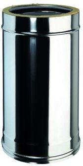 Doppelwandiges Rohr Ø 100mm, Länge: 500mm