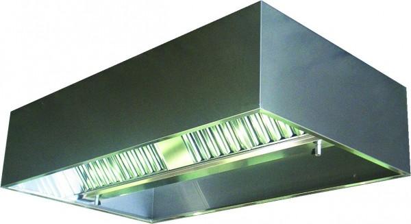 VDI-Deckenhaube, Kastenform mit einer Tiefe von 2000 mm, mit Filter Typ A