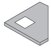 Zusätzlich zum Möbel: Eckiger Ausschnitt in einer Tischplatte
