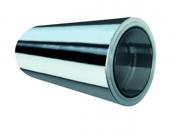 Wandfutter 500mm, kürzbar, für doppelwandiges Rohr Ø 100mm