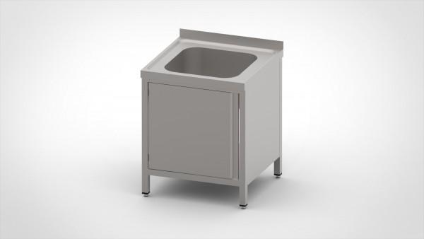 Spülschrank mit einer Tiefe von 700mm, mit einem Becken
