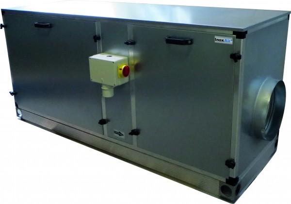 Zuluftgerät komplett mit elektrischer Heizung, steckerfertig