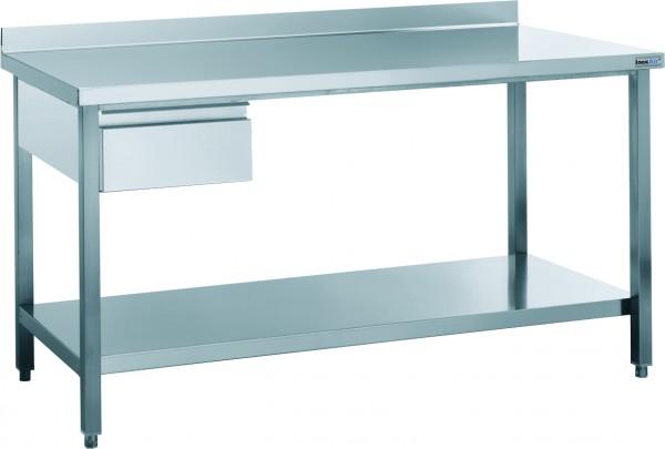 Arbeitstisch mit Aufkantung und Schublade, mit einer Tiefe von 600mm