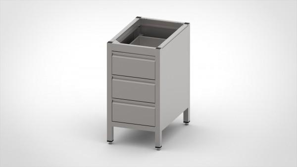 Schubladenschrank ohne Platte, mit einer Tiefe von 560mm