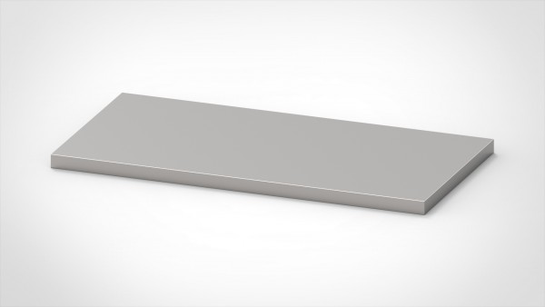 Arbeitsplatte 1,5mm, mit einer Tiefe von 800mm