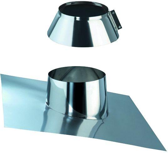 Dachdurchführung 5/30° für doppelwandiges Rohr Ø 150mm