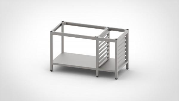 Tisch ohne Platte mit Auflagegestell für 6xGN 1/1, mit einer Tiefe von 660mm