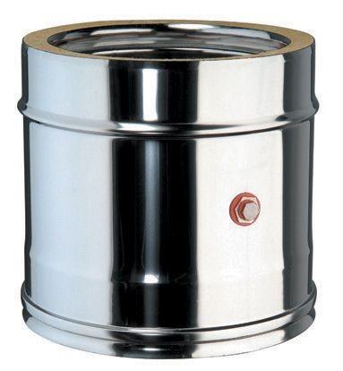 Element mit Messöffnung für doppelwandiges Rohr Ø 130mm