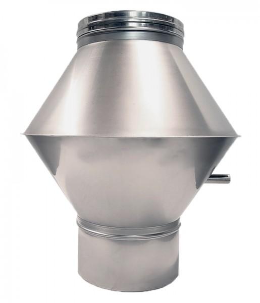 Deflektorhaube für doppelwandiges Rohr Ø 130mm